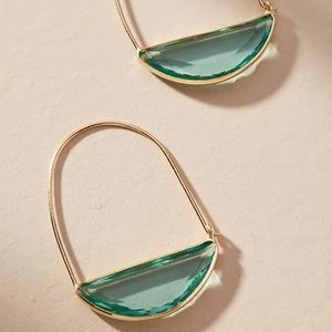 Anthropologie Crescent Hoop Earrings NWT
